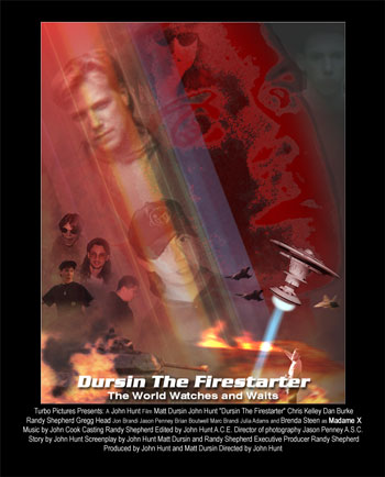 """Dursin the Firestarter"" movie poster"